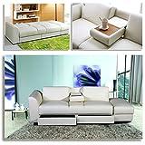 KING Funktionssofa Weiss Schlafsofa Sofa Kunstleder Bettsofa Lounge Couch