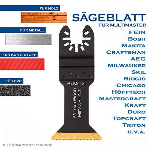 Sägebatt 45mm Metallsägeblatt Holzsägeblatt Multifunktionwerkzeug Multimaster Zubehör für Fein, Bosch u.a.