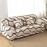 lovecover Hoch elastisch Sessel schoner,Sofa möbel protector für haustiere und kinder Anti-rutsch Baumwolle Couch-abdeckung Schnittsofa werfen pad Für 1 2 3 4 sitzer-A 2 Seater (55*73inch)