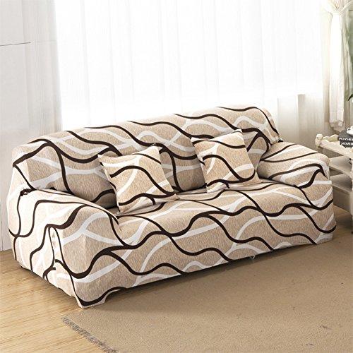 lovecover Hoch elastisch Sessel schoner,Sofa möbel protector für haustiere und kinder Anti-rutsch Baumwolle Couch-abdeckung Schnittsofa werfen pad Für 1 2 3 4 sitzer-A 2 Seater (55*73inch) (2-sitzer Sofa Großes)