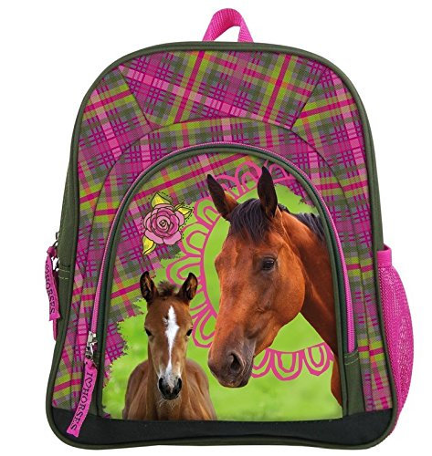 Maxi & Mini - Horses Pony Horse Junior Backpack for Sport and Leisure Nursery School Bag (Littlest Pet Shop-spielzeug Pferd)