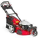 HECHT Benzin-Rasenmäher 5533 SWE 3-Rad Rasenmäher + Elektro-Start Funktion (4,4 kW (6,0 PS), Schnittbreite 51 cm, 60 Liter Fangkorbvolumen, 6-fache Schnitthöhenverstellung 25-75 mm, Radantrieb)