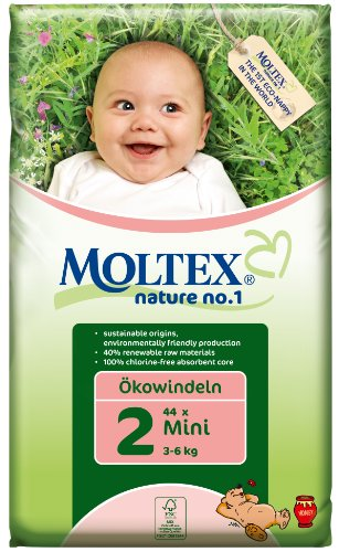 Preisvergleich Produktbild Moltex Nature No1 Ökowindeln Mini Gr. 2 (3-6 kg), 44 Stück