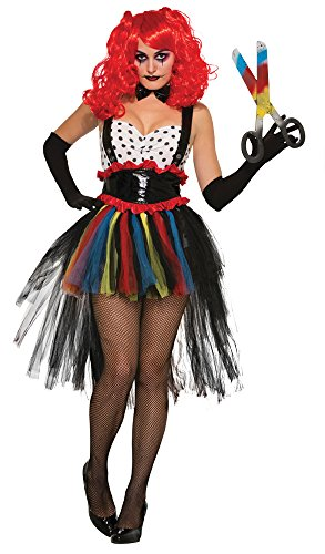5 Evil Girlie Clown Kostüm (UK 10–12) (Scary Doll Halloween Fancy Dress)