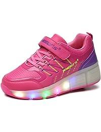 Unisex Schuhe Mit Rollen Skateboard Kinder Mädchen Jungen Led Leuchtet Sohle Leuchtend Sport Turnschuhe ohne USB Es gibt ein Rad