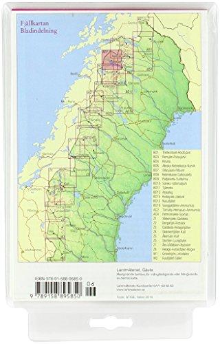 Fjällkartan 1 : 100 000 BD7 Sitasjaure - Ritsem Bergwanderkarte: Alle Infos bei Amazon
