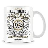 Tazza di caffè, vintage 1938invecchiato alla perfezione regalo personalizzato in ceramica Coffee Cup, 311,8gram, bianco