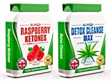 RASPBERRY KETONES x60 + COLON CLEANSE x60 - Max Strength Fat Burners and Colon Cleanse DETOX Capsules - Slimming Diet Pills | Suppress Appetite, Boost Metabolism and Increase Energy for Weight Loss by Slim247