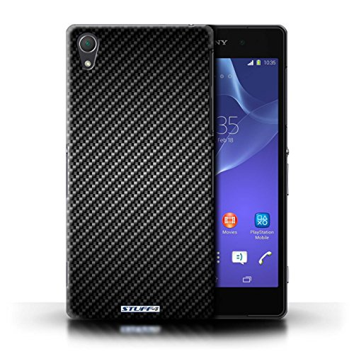 Kobalt® Imprimé Etui / Coque pour Sony Xperia Z2 / Gris conception / Série Motif de Fibre de Carbone Gris