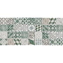 VINILIKO, Alfombra de vinilo, Verde, 66x150 cm