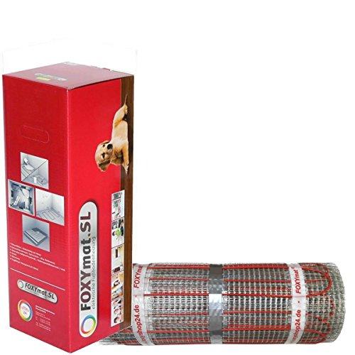 FOXYSHOP24-elektrische Fußbodenheizung PREMIUM MARKE FOXYMAT.SL RAPID (200 Watt pro m²,für die schnelle Erwärmung) ohne Thermostat, 5.0 m² (0.5m x 10m)