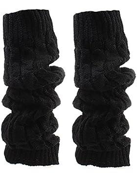 TININNA Winter Damen Crochet Stulpen Beinstulpen Beinwärmer Kniestrümpfe Gestrickt Socken Stricken Socken Beinlinge...