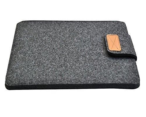 Laptoptasche Notebooktasche Filz Laptop Schutzhülle Hülle Aktentasche Für Apple MacBook / ipad 8-15 Zoll Dunkelgrau