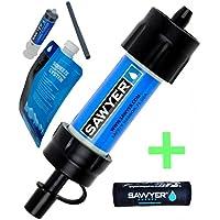 Sawyer - Mini Filtro de Agua y Cubierta Protectora de Calor para Invierno, Color Negro