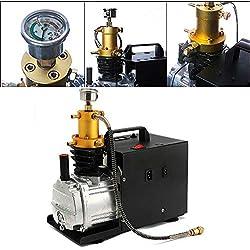 DiLiBee Compresseur d'air électrique de pompe à haute pression 220V Compresseur d'air à haute pression compresseur d'air électrique 4500PSI 2800R / Min 4500PSI 1800W