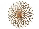 Karlsson KA5394 Horloge Sunflower MDF Finition Bois Sweep Movement Exclusive 1 AA Batterie Diamètre: 60 cm