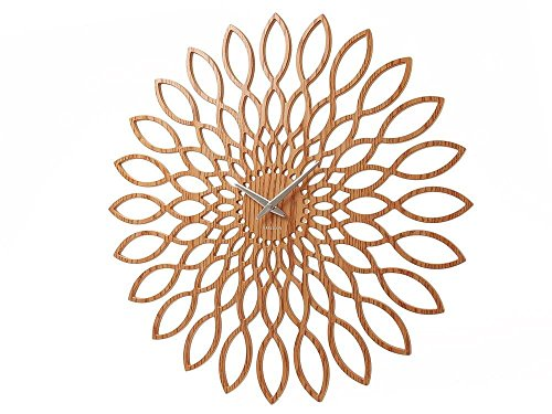 Karlsson KA5394 Horloge Sunflower MDF Finition Bois Sweep Movement Exclusive 1 AA Batterie Diamètre: 60 cm