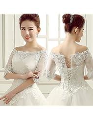 &huahua Hombro de mantón de novia cadena/collar/la joyería/de la boda accesorios/encaje / / capa/fina/capa de la manera , white