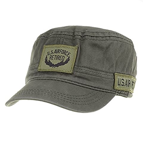 WITHMOONS Militaire Casquette de Baseball Cadet Cap Camouflage Military US Air Force Cotton Hat LX4291 (Green)