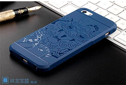 YHUISEN iPhone 5S / SE Fall, echte Qualität TPU ultra dünne schützende Fall-Silikon Shockproof Abdeckung für iPhone 5S / iPhone SE ( Color : Blue , PATTERN : Solid ) Blue