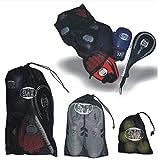 BAY Netzbeutel (3 Stück - je Größe 1x) Netztasche Mesh Netz Meshbag Bag Schulterbeutel Tasche...