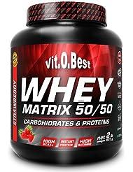 Vit-O-Best Whey Matrix 50/50 Proteínas, Sabor a Chocolate - 907 gr