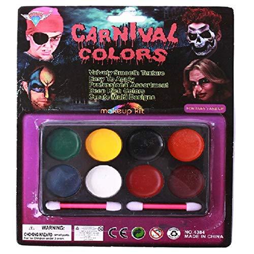 lfarbe 6 Farbe 8 Farbe Halloween Wasserfarbe Gesicht Fans Make-up Gesicht Farbe Teufel Ölfarbe ()