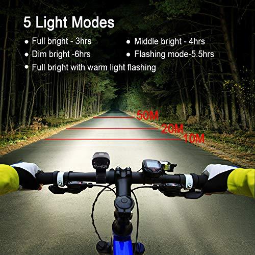 Zoom IMG-2 tomshoo luce bicicletta led ricaricabile