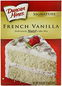 Duncan Hines French Vanilla Cake Mix 517 g (Pack of 4)