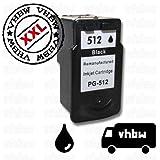 vhbw Druckerpatrone Tintenpatrone schwarz für Canon Pixma ip2700, ip2702, MP240, MP250, MP260, MP270, MP280, MP480 wie Canon PG-512, PG-512XL.
