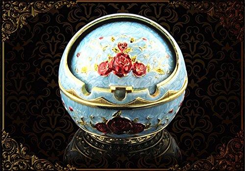 Dachui creative posacenere a conchiglia home fashion far scorrere il coperchio di forma sferica castello posacenere posacenere palazzo portable (colore : #4)