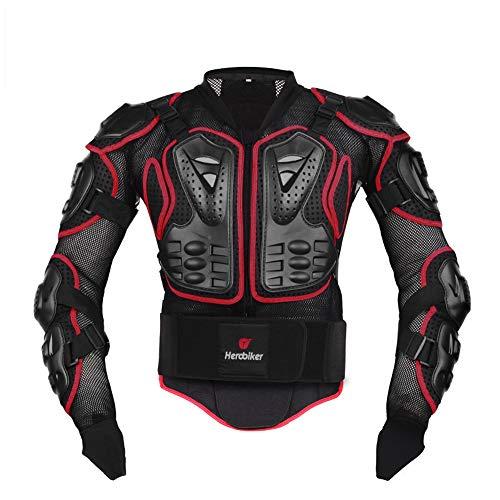 g Ganzkörper ProtectorJacket Motocross ATV Guard Shirt für Renn-, Offroad- und andere Freizeitschutzprojekte,Red,XXXL ()