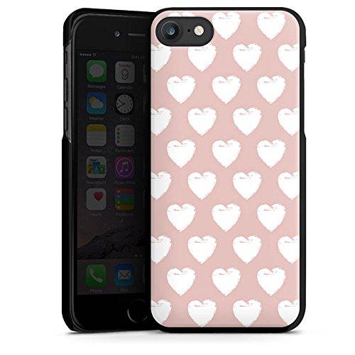 Apple iPhone X Silikon Hülle Case Schutzhülle Herzen Muster Liebe Hard Case schwarz