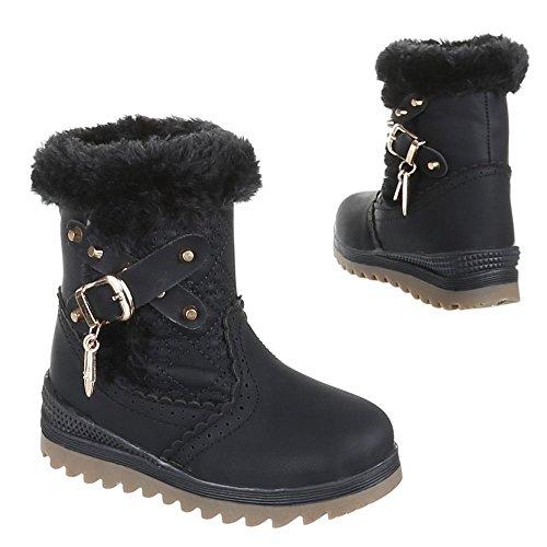 Enfants chaussures bottes bK - 3 Noir - Noir