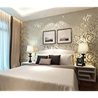 Ufengke Moderne Simple Vliesstoff Beflockung Bronzing 3D Kurve Muster  Tapeten Wandbild Für Wohnzimmer Schlafzimmer TV Hintergrund