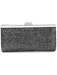 3d4ae5298c4 AllRight Women Fashion Gorgeous Glitter Clutch Bag Handbag Purse for Evening  Prom Party - Assorted Sparkly