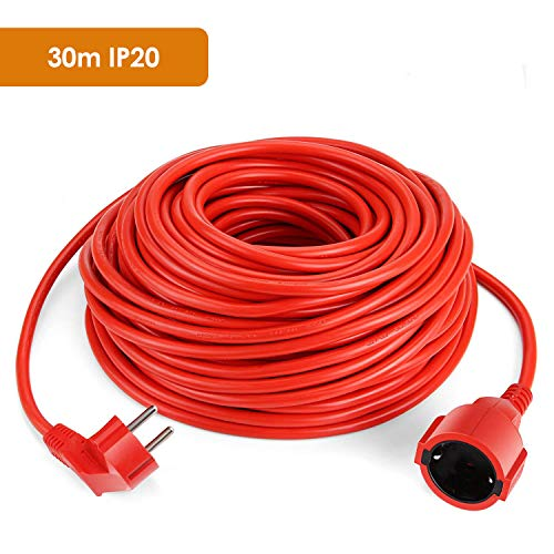 SIMBR Alargador Electrico 30m IP20 H05VV Cable Alargador