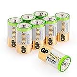 Batterien D/Mono/LR20, GP Super Alkaline, 1,5V, 8 Stück Monozellen im Vorratspack Markenprodukt [GP Batteries, Besonders Langlebig und auslaufsicher