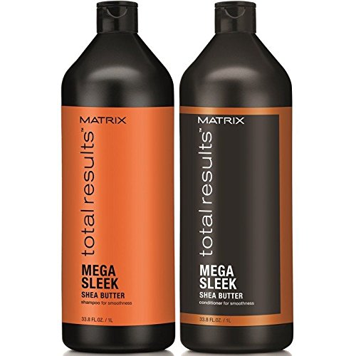 Matrix Total Result Sleek Shampoo & Conditioner Liter Duo