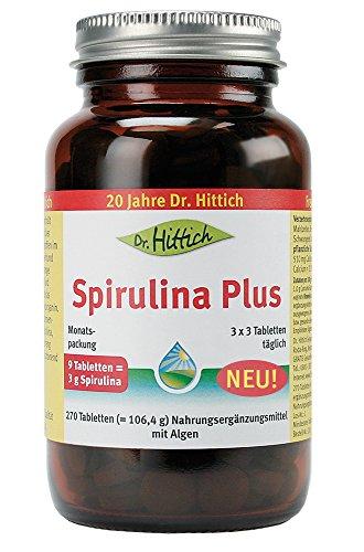 Spirulina Plus - 270 Tabletten - Das rein pflanzliche Superfood aus Algen. Aminosäuren für exzellenten Zellschutz. Ideal für Vegetarier und Veganer - von Dr. Hittich