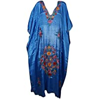 Women Kaftan Maxi HouseDress Floral Embellished Lounge Resort Caftan One Size