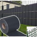 HG® 70 m x 19 cm Sichtschutzstreifen Stabmattenzaun Streifen PVC verschiedene Modelle für den Gartenzaun oder Balkon