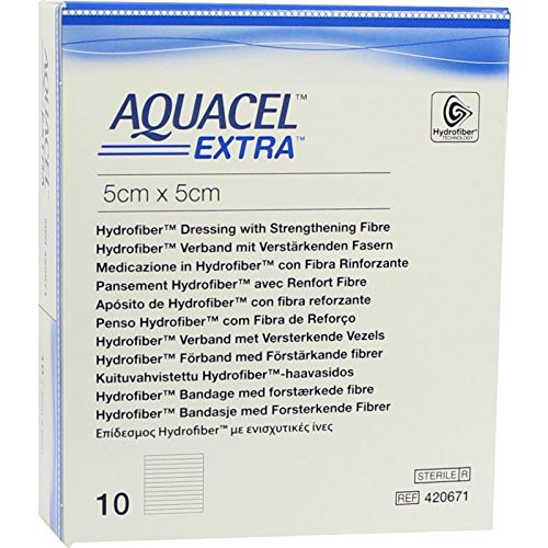 Aquacel extra 5x 5cm compresas 10St