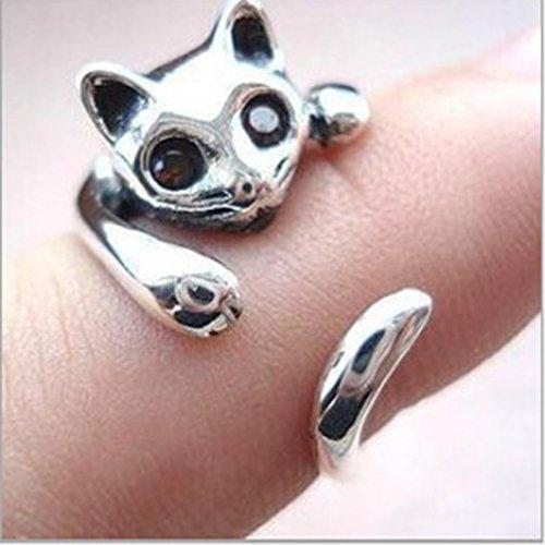 Modeschmuck Ringe Große (Yinew Diamant Ring Große Luxus Modeschmuck übertrieben Katze Ring)