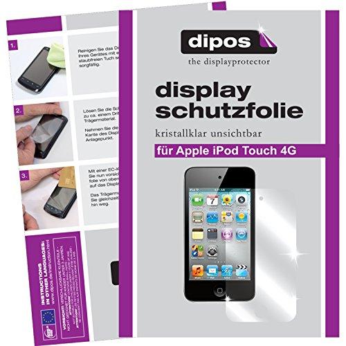 dipos I 2X Schutzfolie klar passend für Apple iPod Touch 4G (Modelle 2010 und 2011) Folie Displayschutzfolie Ipod Touch 4 Hybrid