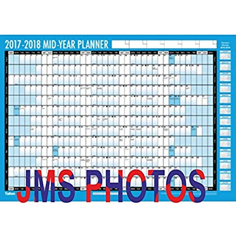 Large A1 2017-2018 Academic Mid Year Student Wall Planner Calendar Pen Sticker