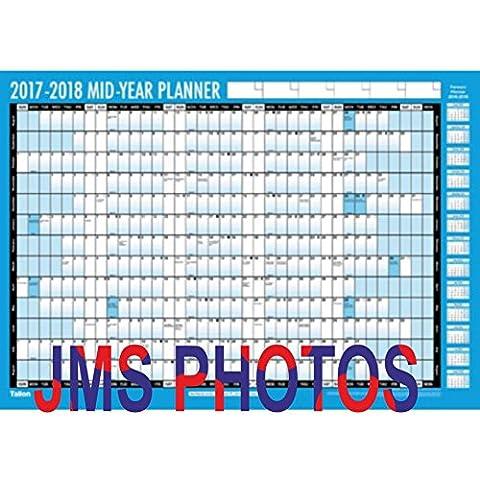 A2Compact 20172018Academic milieu d'année Calendrier Planning mural avec stylo Stickers 3924