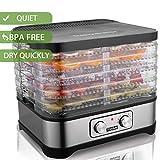 Dörrautomat mit Temperaturregler, Dörrgerät für Lebensmittel, Obst- Fleisch- Früchte-Trockner, Dehydrator, BPA-frei, 5 Etagen