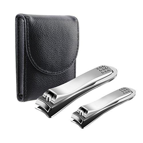 Geila Nagelknipser, 2 Stück, schärfste Edelstahl Fingernagel- und Fußnagelknipser, beste Nagelpflege-Set, strapazierfähig, große Nagelknipser Set für Männer und Frauen