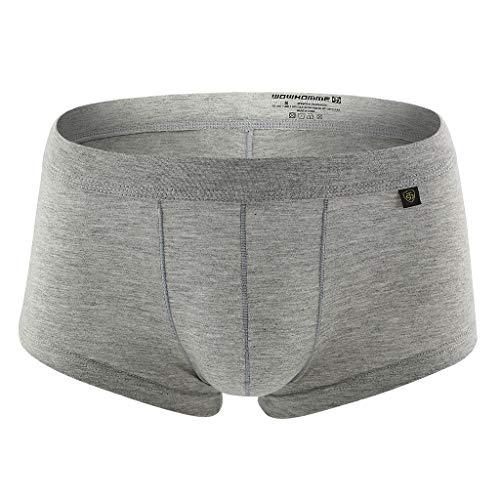 KonJin Herren Retro Pants Boxershort elastische mit Elastan und Baumwoll weiche Unterhose sexy atmungsaktive Mesh Bequeme große Unterwäsche